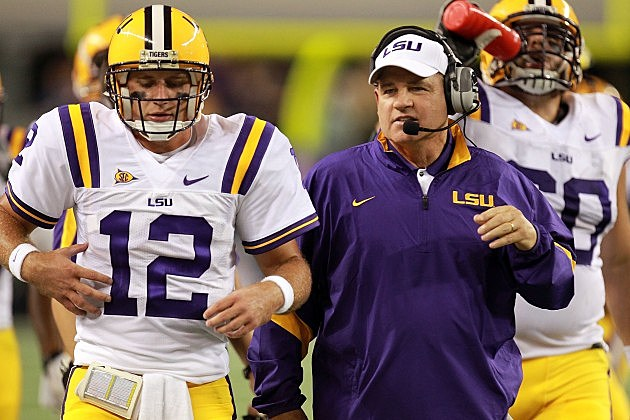 Jarrett Lee and Les Miles