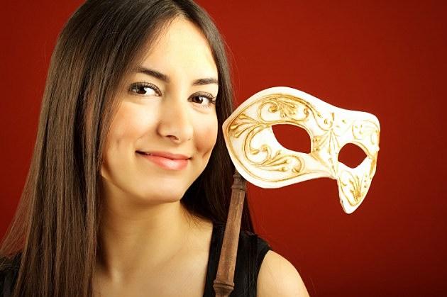 Pretty Woman with Mardi Gras Mask