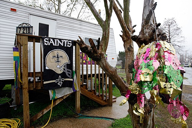 New Orleans Saints Fans Watch NFC Championship Game